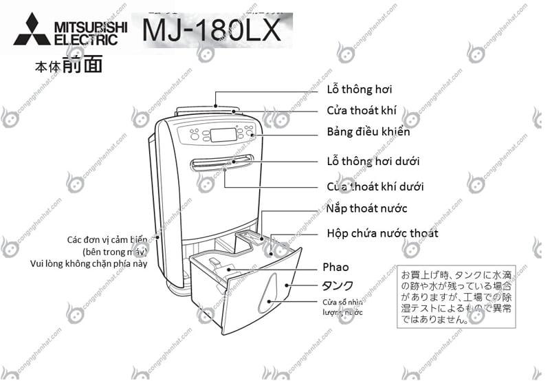 may-hut-am-noi-dia-nhat-mitsubishi-mj-100sx