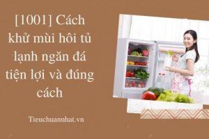 [1001] Cách khử mùi hôi tủ lạnh ngăn đá tiện lợi và đúng cách